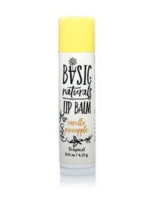 best natural lip balm tropical vanilla pineapple - Basic-Naturals